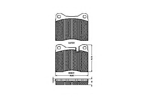 Комплект тормозных колодок, дисковый тормоз SPIDAN 32140
