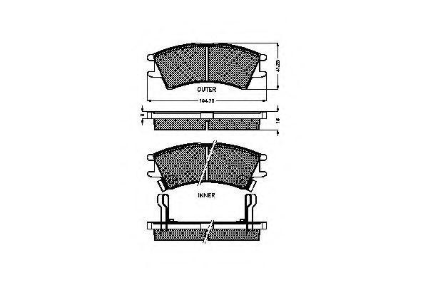 Комплект тормозных колодок, дисковый тормоз SPIDAN 32320