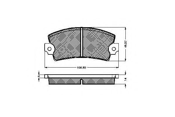 Комплект тормозных колодок, дисковый тормоз SPIDAN 32559