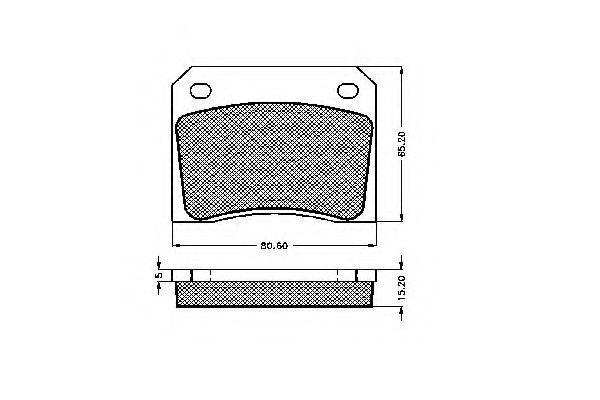 Комплект тормозных колодок, дисковый тормоз SPIDAN 32586