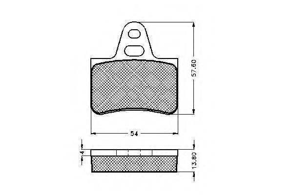 Комплект тормозных колодок, дисковый тормоз SPIDAN 32638