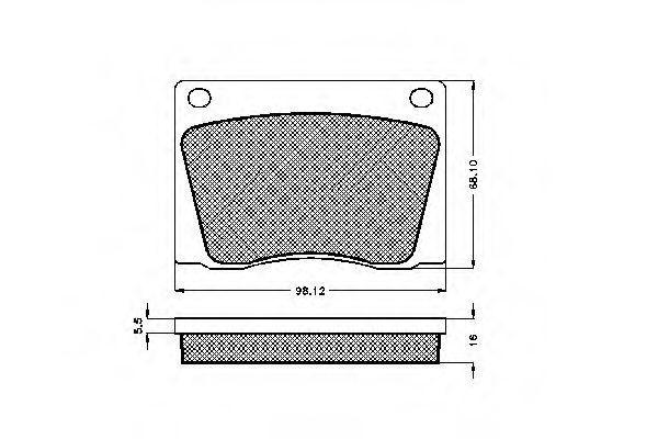 Комплект тормозных колодок, дисковый тормоз SPIDAN 32647