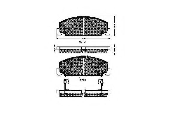 Комплект тормозных колодок, дисковый тормоз SPIDAN 32685