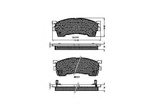 Комплект тормозных колодок, дисковый тормоз SPIDAN 32753