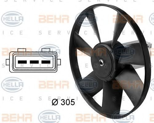 Вентилятор, охлаждение двигателя BEHR 8EW009144411