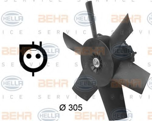 Вентилятор, охлаждение двигателя BEHR 8EW009144641