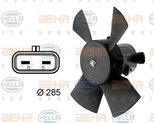 Вентилятор, охлаждение двигателя BEHR 8EW009158701