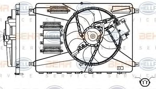 Вентилятор, охлаждение двигателя BEHR 8EW351000371