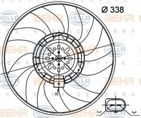 Вентилятор, охлаждение двигателя BEHR 8EW351000481