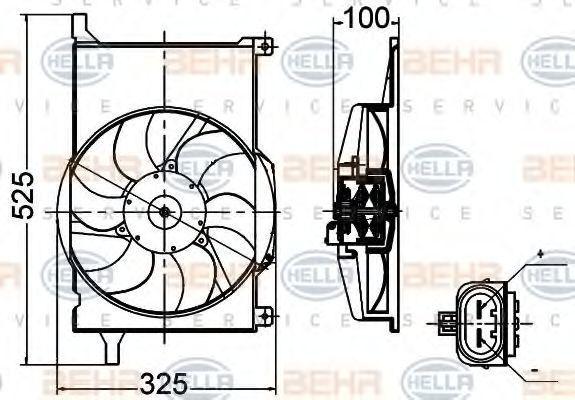 Вентилятор, охлаждение двигателя BEHR 8EW351030471