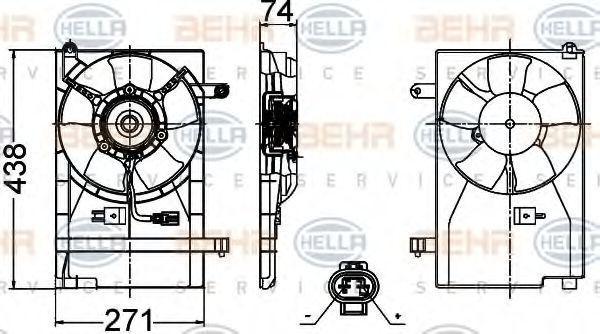 Вентилятор, охлаждение двигателя BEHR 8EW351030481