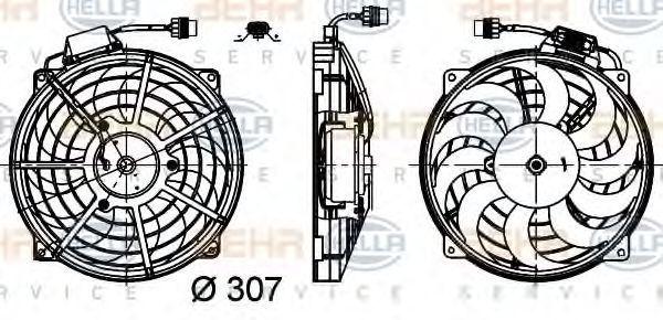 Вентилятор, конденсатор кондиционера BEHR 8EW351030491