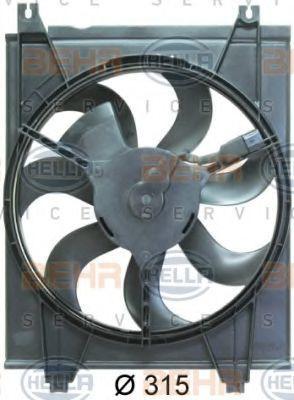 Вентилятор, конденсатор кондиционера BEHR 8EW351034621