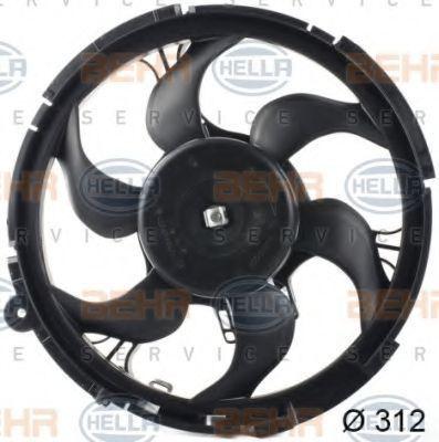 Вентилятор, охлаждение двигателя BEHR 8EW351039541