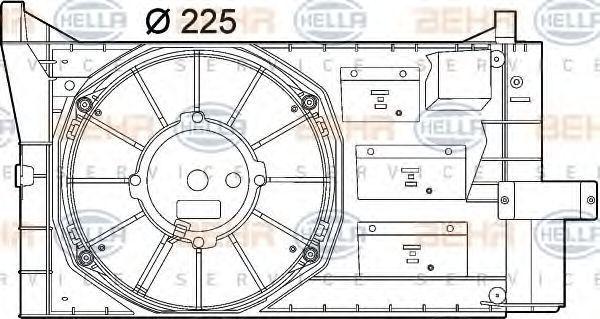 Вентилятор, охлаждение двигателя BEHR 8EW351039631