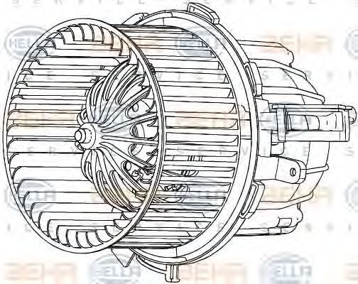 Вентилятор салона BEHR 8EW351040261