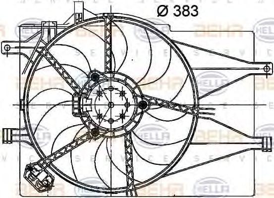 Вентилятор, охлаждение двигателя BEHR 8EW351040741