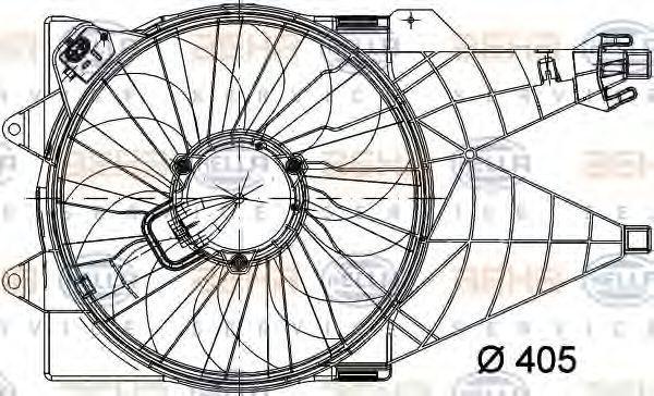 Вентилятор, охлаждение двигателя BEHR 8EW351040781
