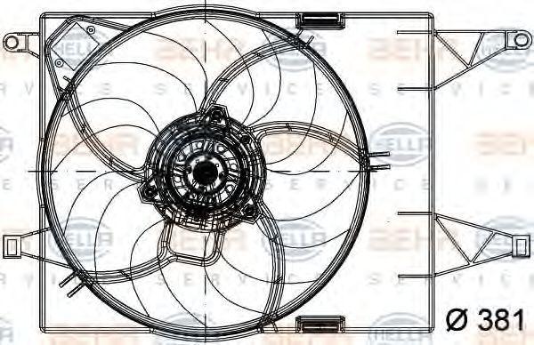 Вентилятор, охлаждение двигателя BEHR 8EW351040791