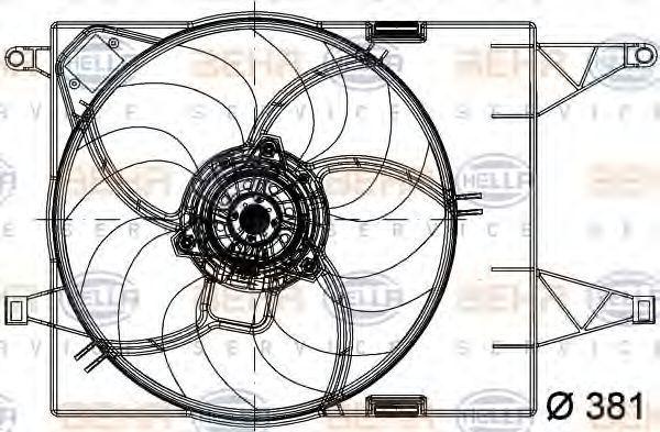 Вентилятор, охлаждение двигателя BEHR 8EW351041031