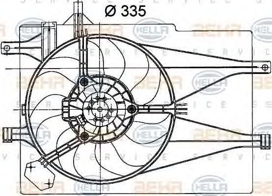 Вентилятор, охлаждение двигателя BEHR 8EW351041041