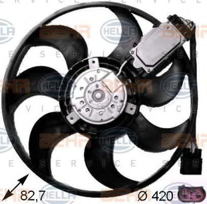 Вентилятор, охлаждение двигателя BEHR 8EW351043231