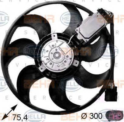 Вентилятор, охлаждение двигателя BEHR 8EW351043241