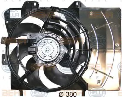 Вентилятор, охлаждение двигателя BEHR 8EW351043541