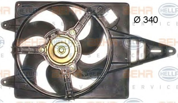 Вентилятор, охлаждение двигателя BEHR 8EW351043711