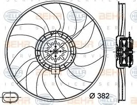 Вентилятор, охлаждение двигателя BEHR 8EW351044351