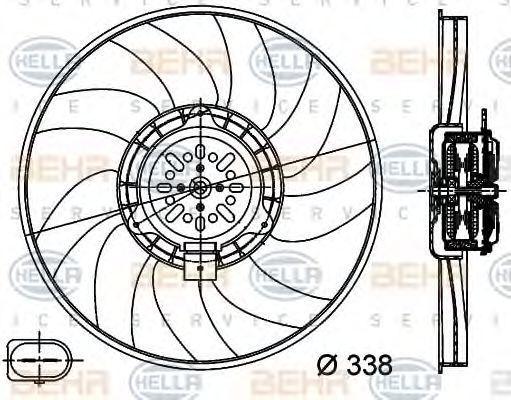 Вентилятор, охлаждение двигателя BEHR 8EW351044361