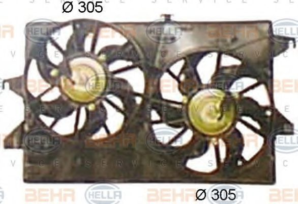 Вентилятор, охлаждение двигателя BEHR 8EW351044441