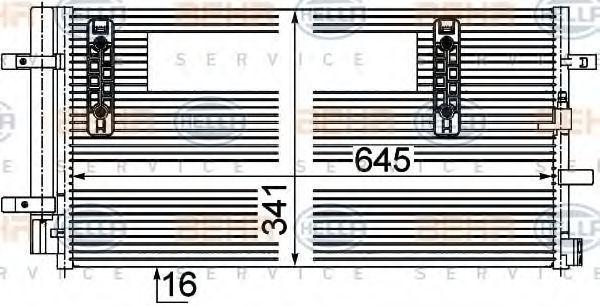 Конденсатор, кондиционер BEHR 8FC351303501