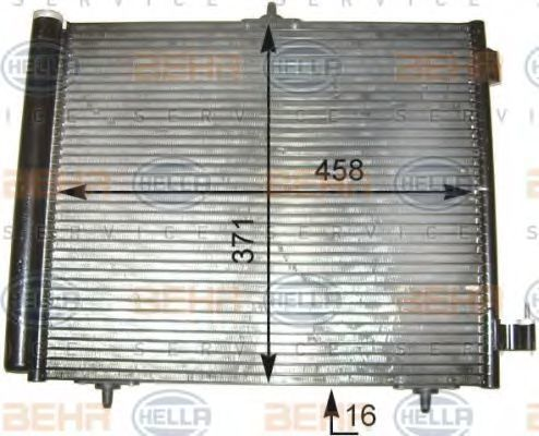 Конденсатор, кондиционер BEHR 8FC351303541