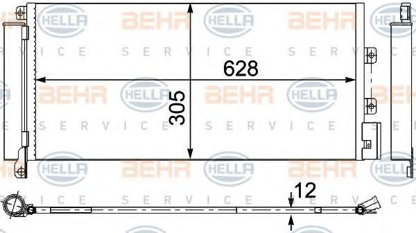 Конденсатор, кондиционер BEHR 8FC351304251
