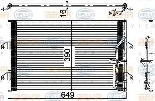 Конденсатор, кондиционер BEHR 8FC351304541