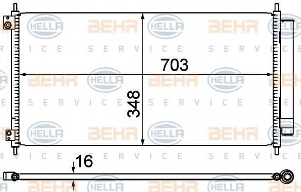 Конденсатор, кондиционер BEHR 8FC351310281