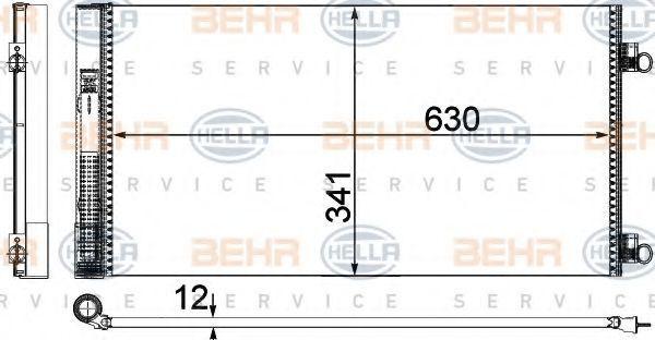 Конденсатор, кондиционер BEHR 8FC351319641