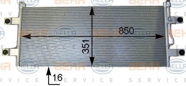 Конденсатор, кондиционер BEHR 8FC351343221