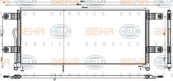 Конденсатор, кондиционер BEHR 8FC351343231