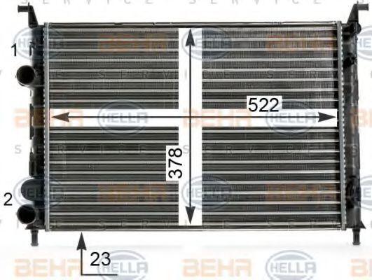 Радиатор, охлаждение двигателя BEHR 8MK376700251
