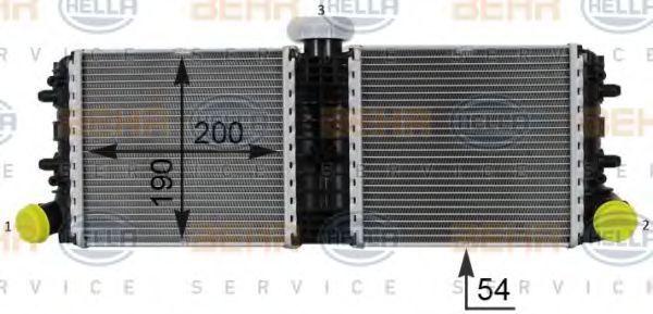 Радиатор, охлаждение двигателя BEHR 8MK376701251