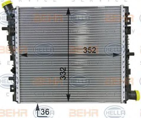 Радиатор, охлаждение двигателя BEHR 8MK376701261