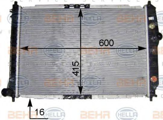 Радиатор, охлаждение двигателя BEHR 8MK376704831