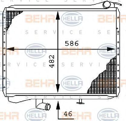 Радиатор, охлаждение двигателя BEHR 8MK376710001