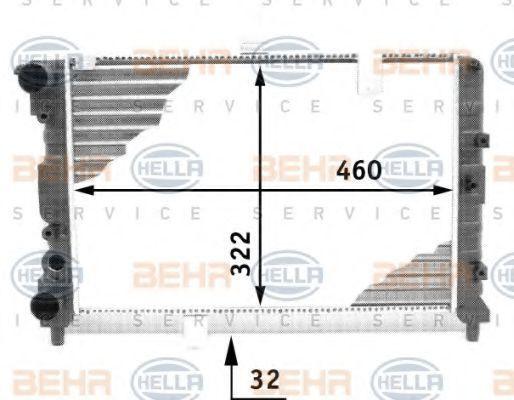 Радиатор, охлаждение двигателя BEHR 8MK376713481