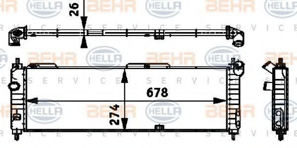 Радиатор, охлаждение двигателя BEHR 8MK376713574