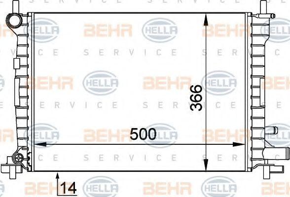 Радиатор, охлаждение двигателя BEHR 8MK376715621