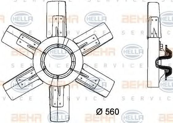 Вентилятор, охлаждение двигателя BEHR 8MV376730251