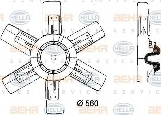 Вентилятор, охлаждение двигателя BEHR 8MV376730751